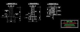 视准线观测墩结构图【含立视图、配筋