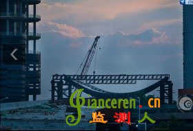 长沙福元路湘江大桥120吨龙门吊侧翻致2人受伤