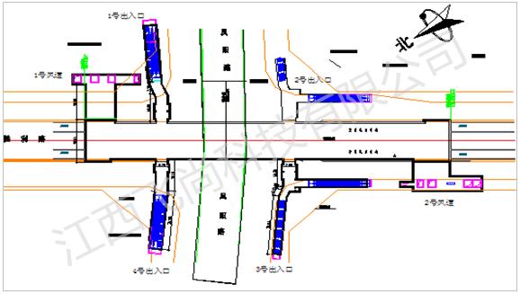 合肥市轨道交通1号线二标凤阳路车站施工监测